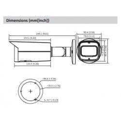 Minicâmara HDCVI exterior de 1 Megapixel com lente fixa