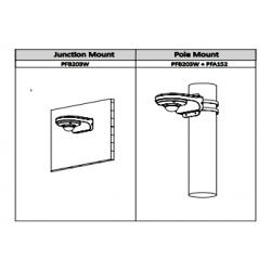 Câmara minidome híbrida (Analógica/HCVI) exterior IP65 de 1000 Linhas com visão noturna 8M e lente fixa grande angular