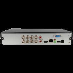 Gravador 5 em 1 (hd-cvi, hd-tvi, ahd, analógico e ip) DAHUA de 8 canais e 1 mpx de resoluçao máxima